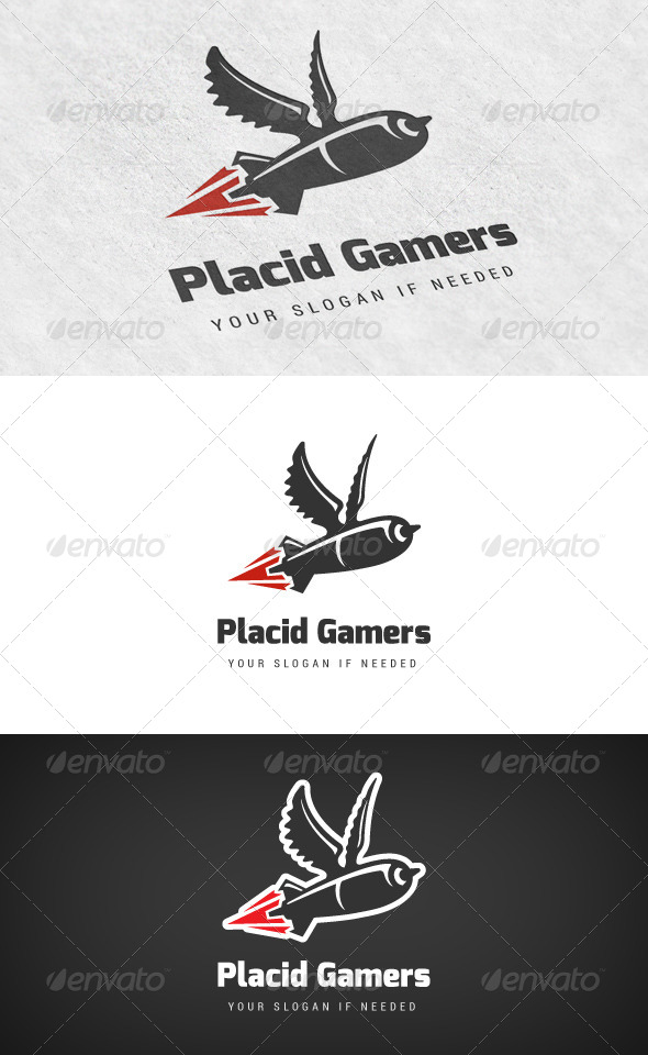 GraphicRiver Placid Gamers Gaming Logo 5956238