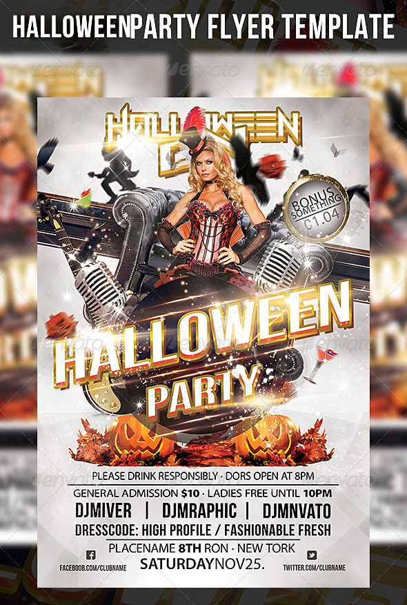 GraphicRiver Halloween Party Flyer Template 5923547