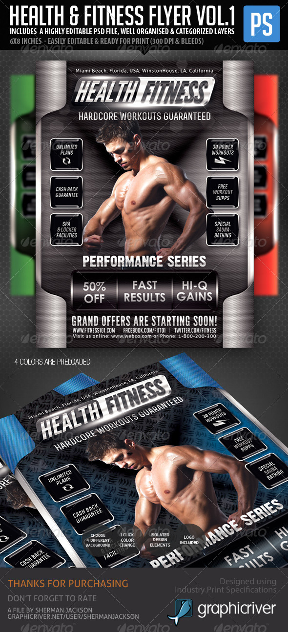 GraphicRiver Health & Fitness Performance Series Flyer 5934392