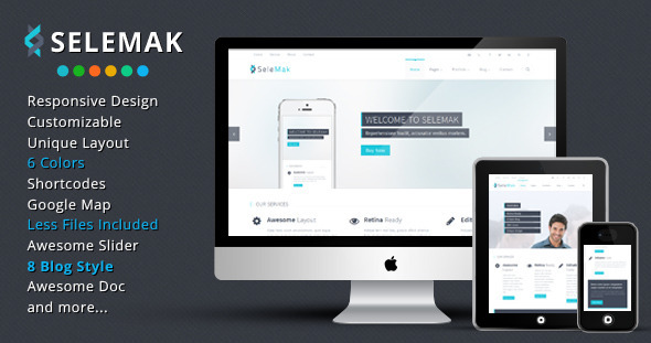 SeleMak - Responsive HTML5 Template - Corporate Site Templates