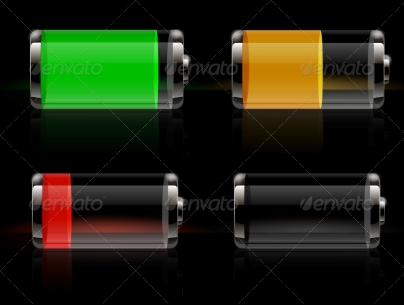 GraphicRiver Glossy Transparent Battery 5956830