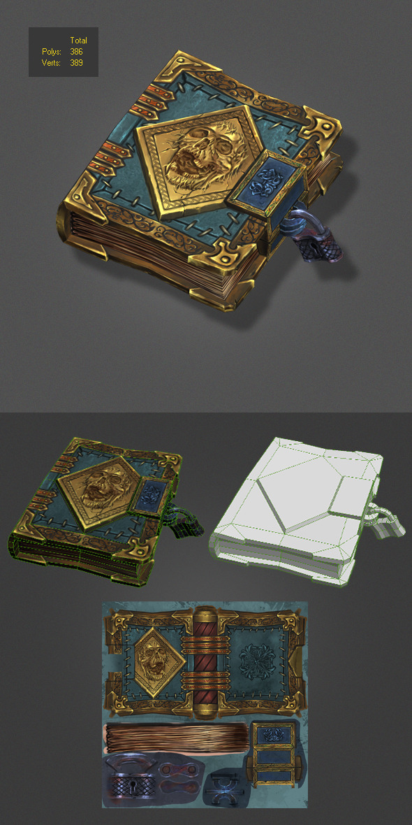 3DOcean low poly magic book 5956944