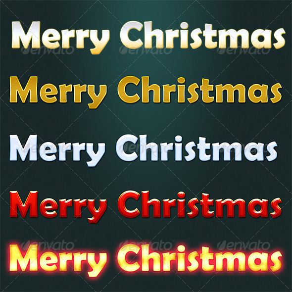 GraphicRiver Christmas Text Styles 5924715