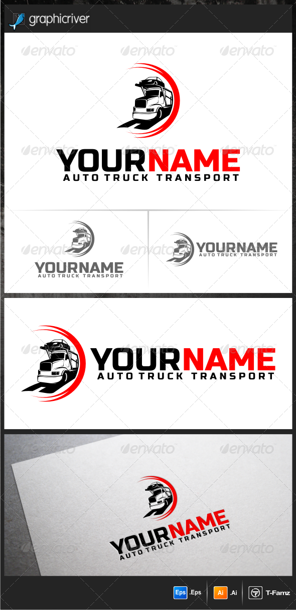 Auto Truck Transport - Objects Logo Templates