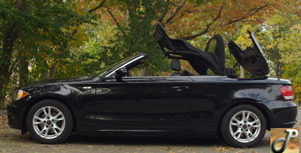 Sports Car Convertible Top Up and Down