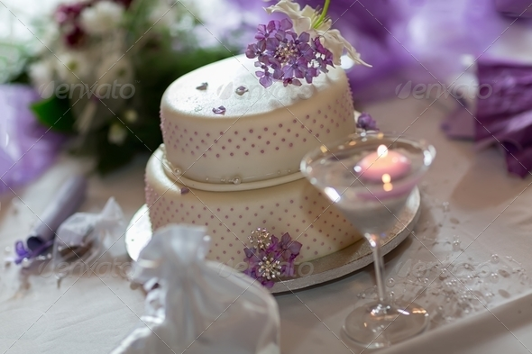 Traditional wedding cake - Stock Photo - Images