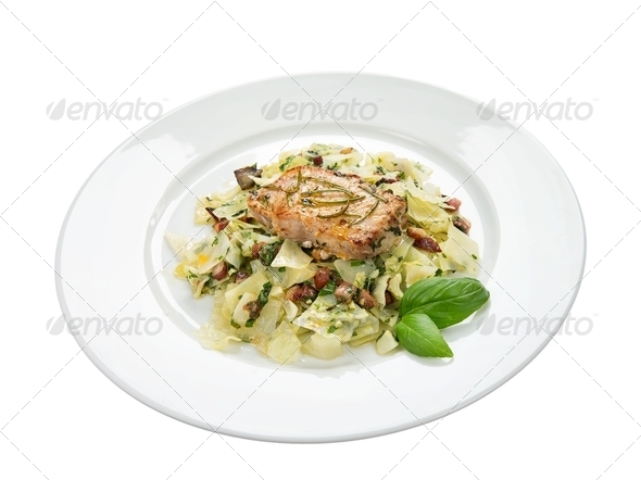 Delicious pork chop - Stock Photo - Images
