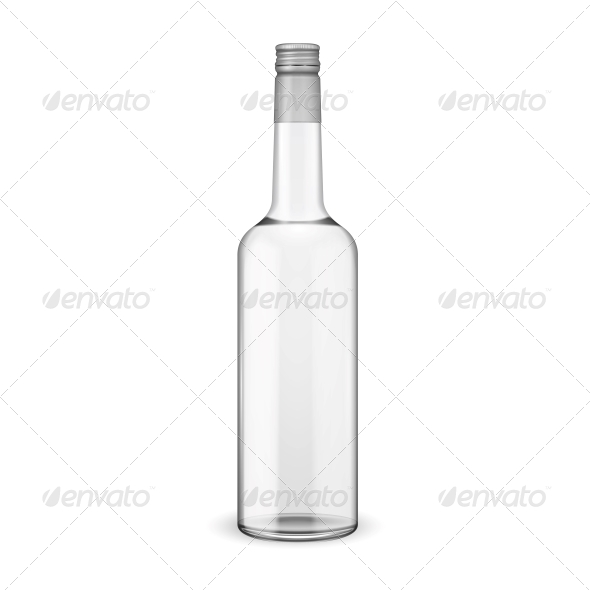 GraphicRiver Glass Vodka Bottle with Screw Cap 5957283