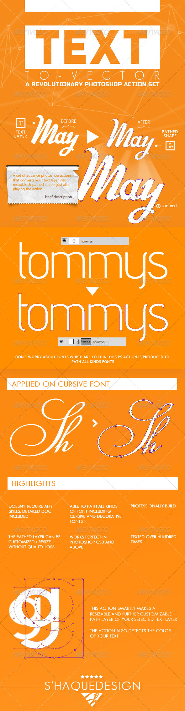 GraphicRiver Text To Vector PS Actions 5957314