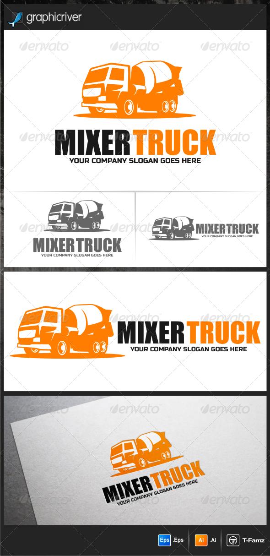 Mixer Truck Logo Templates