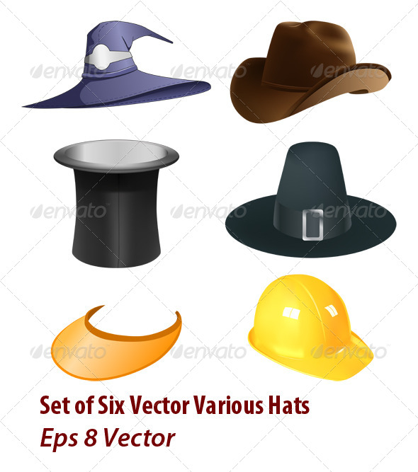 GraphicRiver Hats Set 5957583