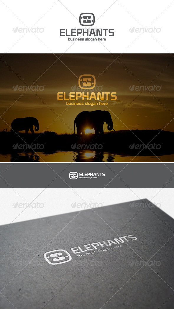 GraphicRiver Elephants Logo Creative Studio 5958040