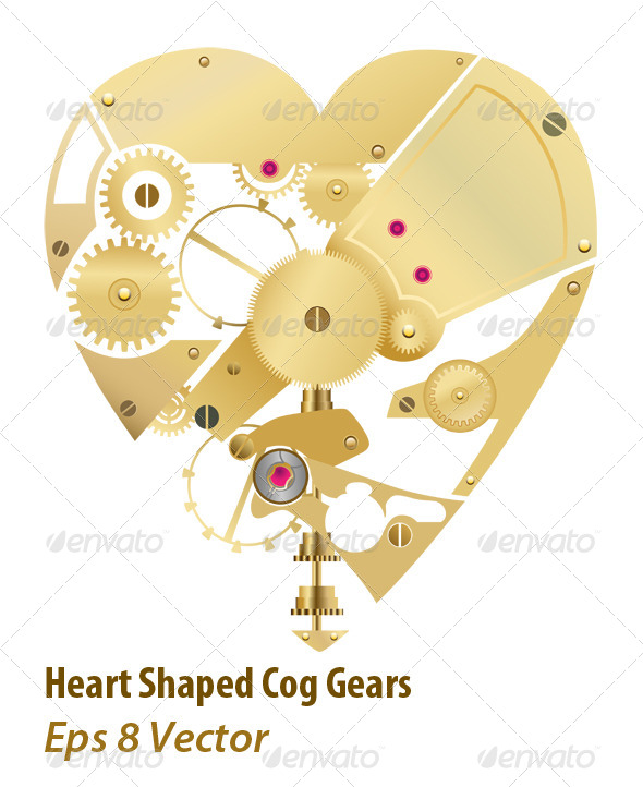 GraphicRiver Heart Gear 5958335