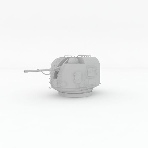 3DOcean automatic naval gun AK-100 Render setup 5958480