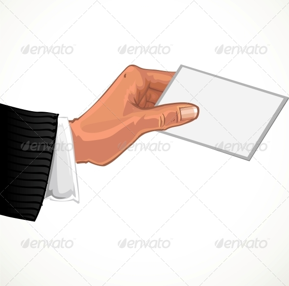 GraphicRiver Male Hand with Business Card 5958494
