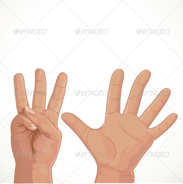 GraphicRiver Holding Up Eight Fingers 5958495