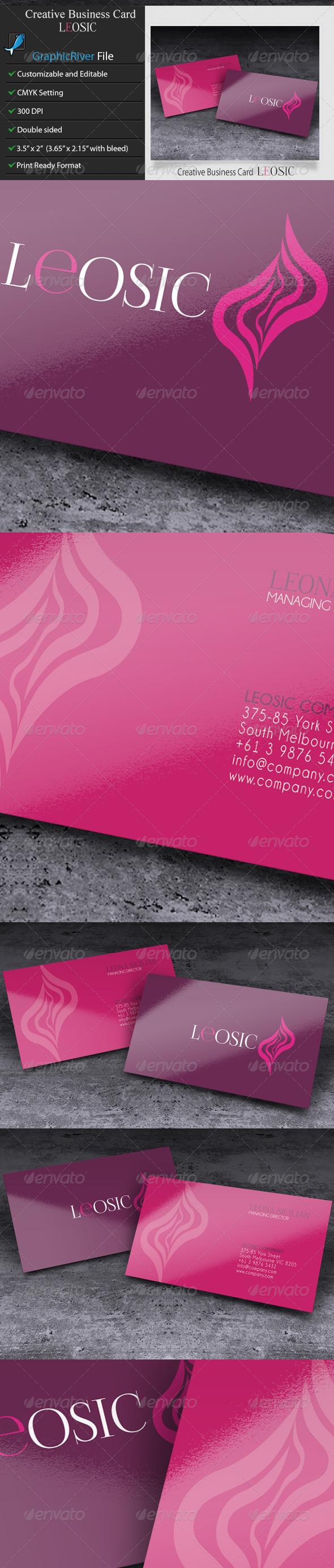 GraphicRiver Creative Business Card LEOSIC 5958639