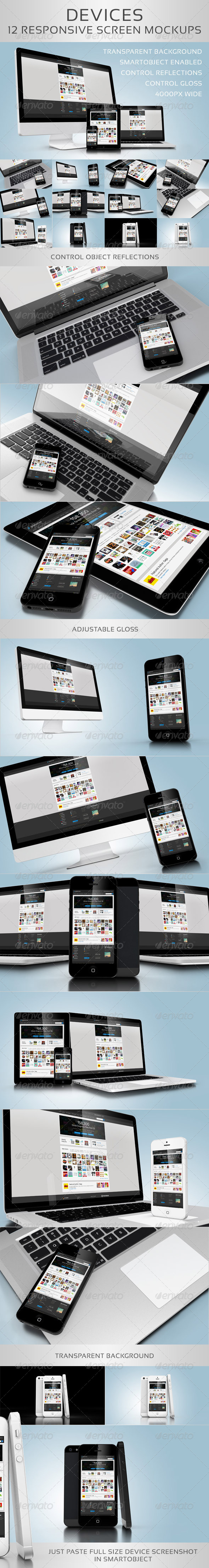 GraphicRiver Devices 12 Responsive Screen Mockups 5926966