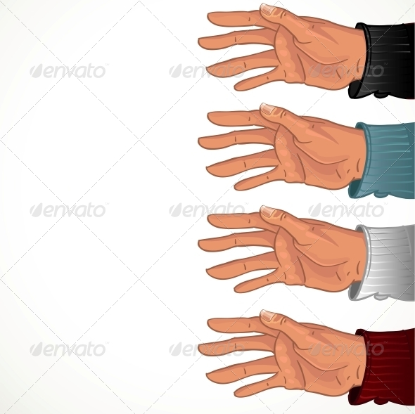 Male Hand in Some Color Shirt