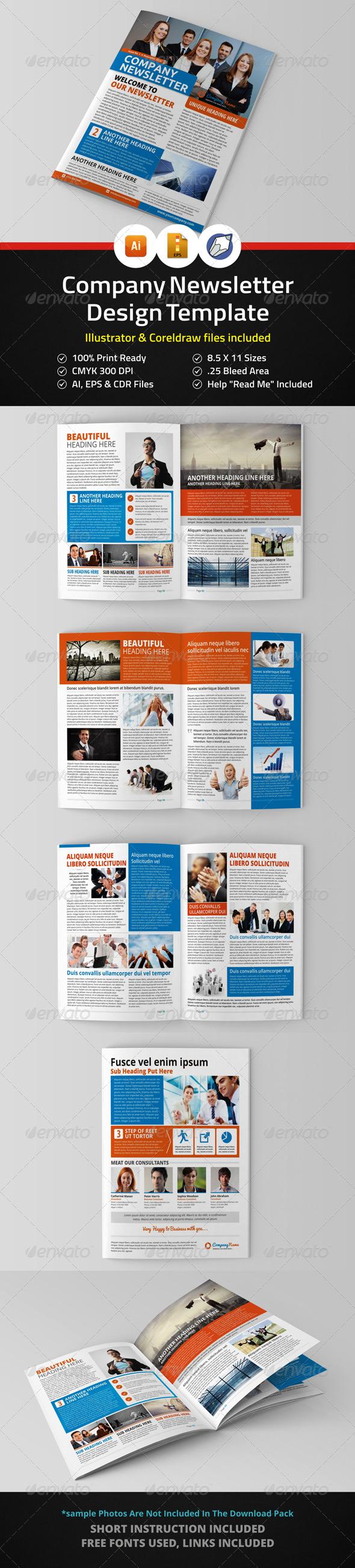 GraphicRiver Newsletter Design Template 5959660