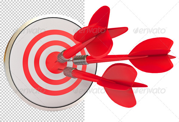 GraphicRiver The dart hits the target 5959684