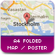 A4 Maps & Poster Folded Mockup - GraphicRiver Item for Sale