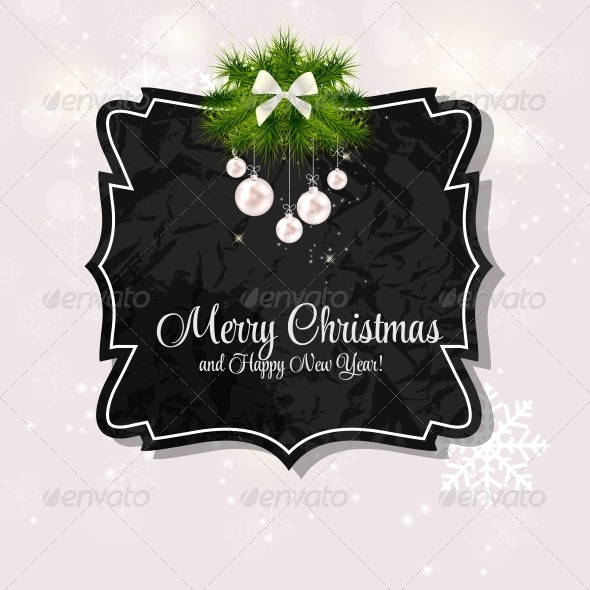 GraphicRiver Abstract Christmas and New Year Background 5959797