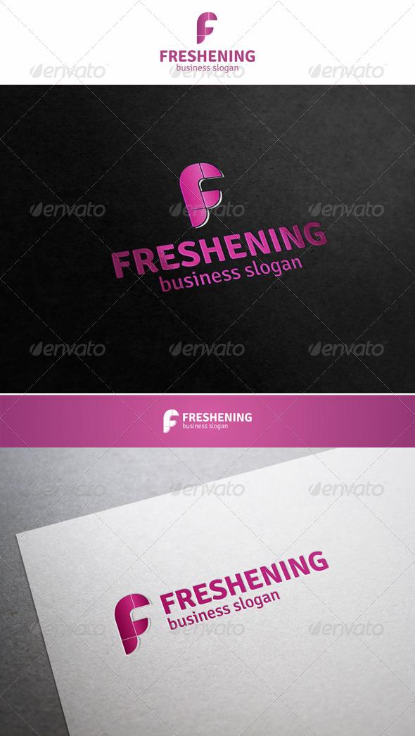 GraphicRiver Freshening F Logo Letter 5959913