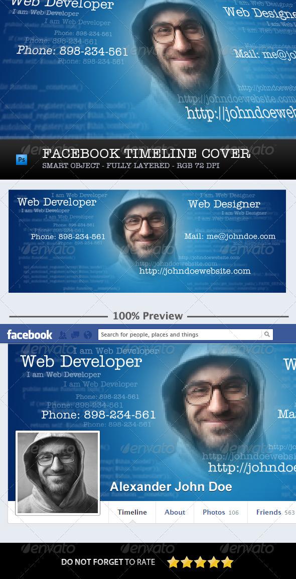GraphicRiver Facebook Timeline Cover Developer Designer 5934207