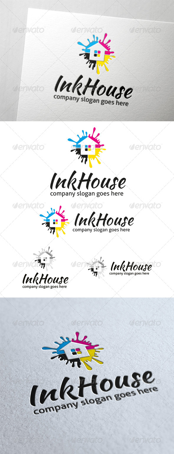 GraphicRiver Ink House Logo 5960347
