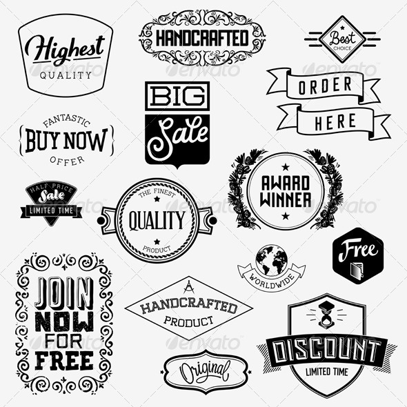 GraphicRiver Vector Vintage Badges 5960413