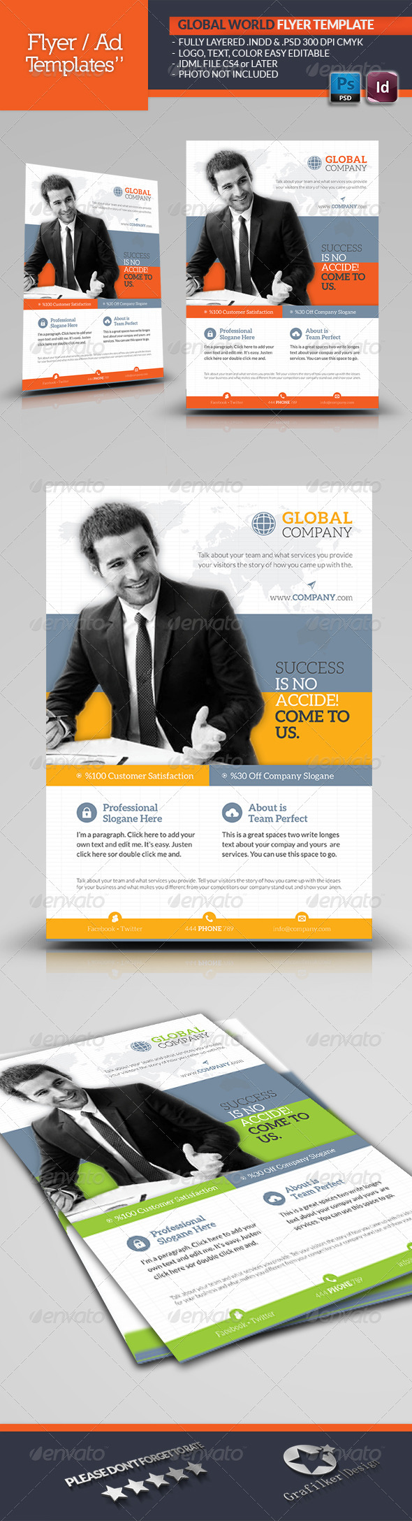Global World Flyer Template - Corporate Flyers