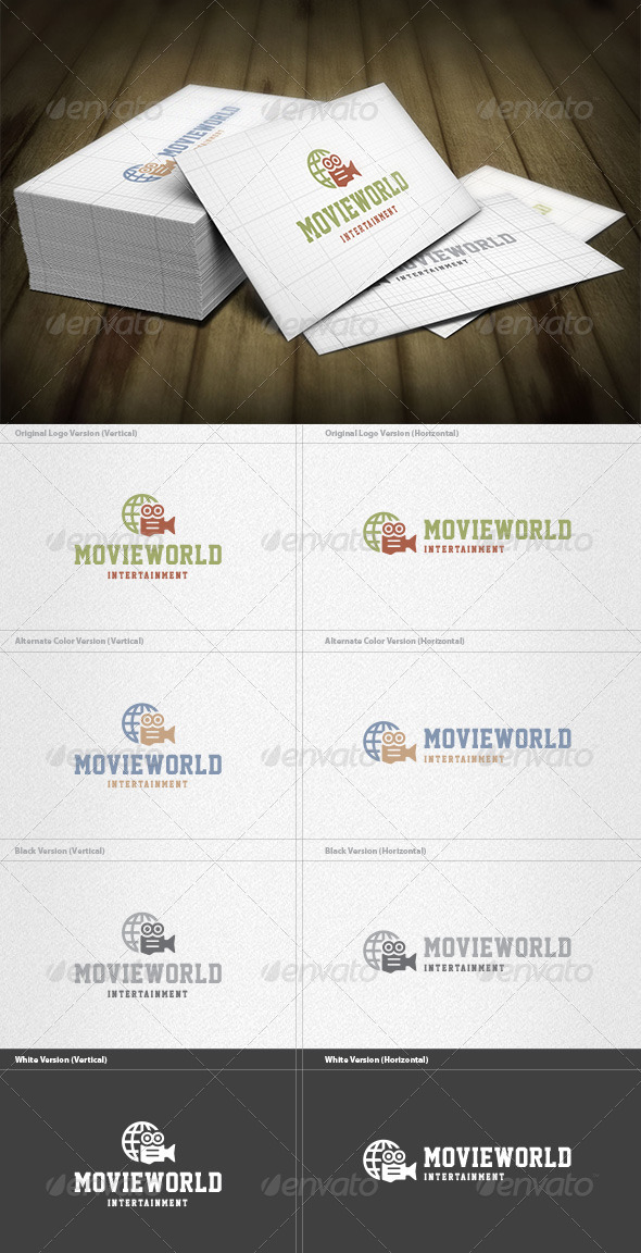 GraphicRiver Movie World Logo 5960468