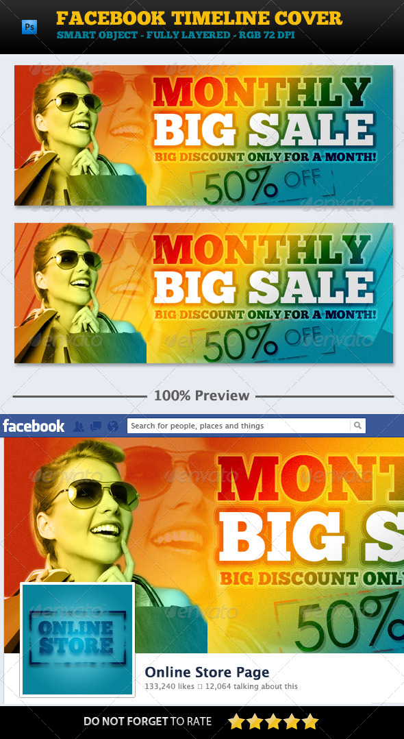 GraphicRiver BIG Sale Promotion FB Cover 5960511
