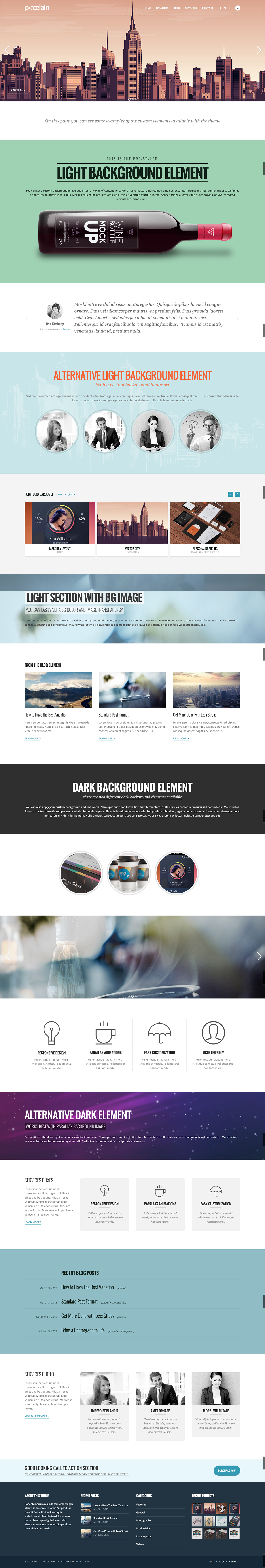 Porcelain - Responsive Multi-Purpose Theme