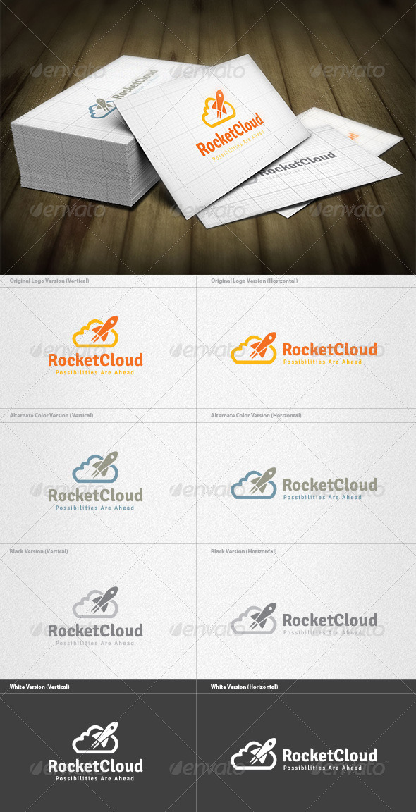 GraphicRiver Rocket Cloud Logo 5960554