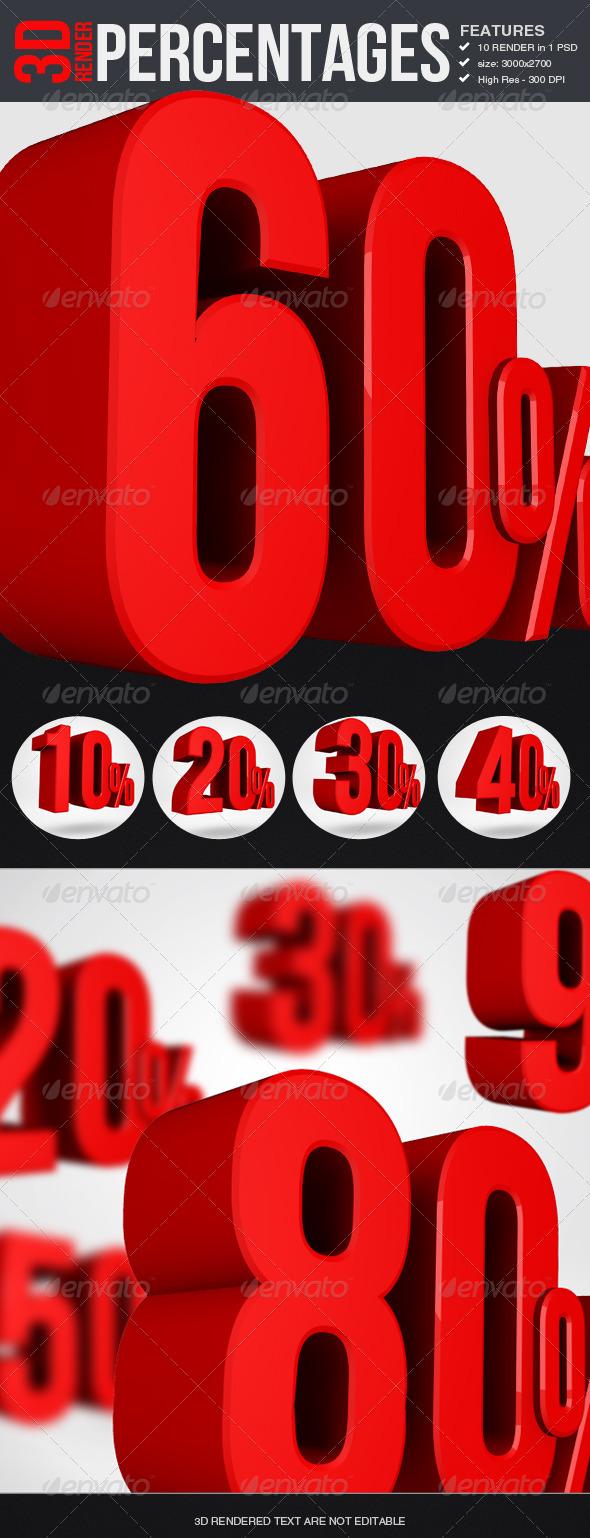 GraphicRiver Percentages 3D Render 5960570