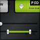 HUGE Premium Dark User Interface (UI) - 4 Colors - GraphicRiver Item for Sale