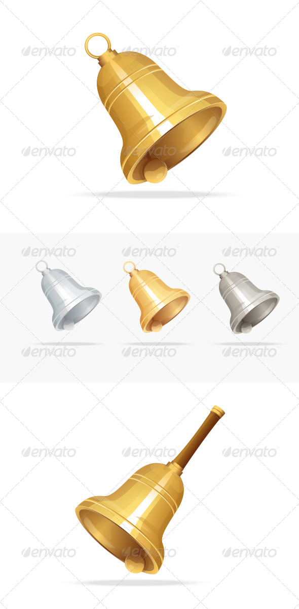 GraphicRiver Christmas Bell Set on White Background 5961101