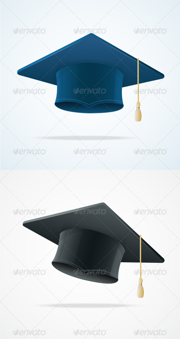 GraphicRiver Education Cup on White Graduation Cap 5961280