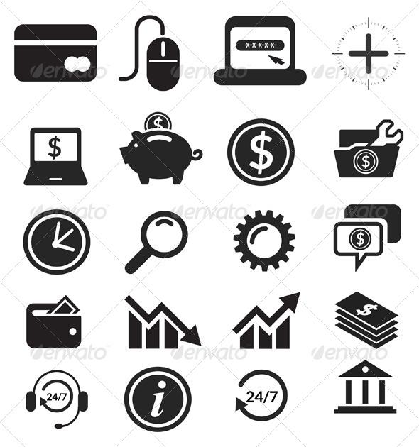 Icon Set Banking & Finance Illustration