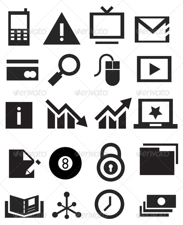 GraphicRiver Icon Set Business Illustration 5961712