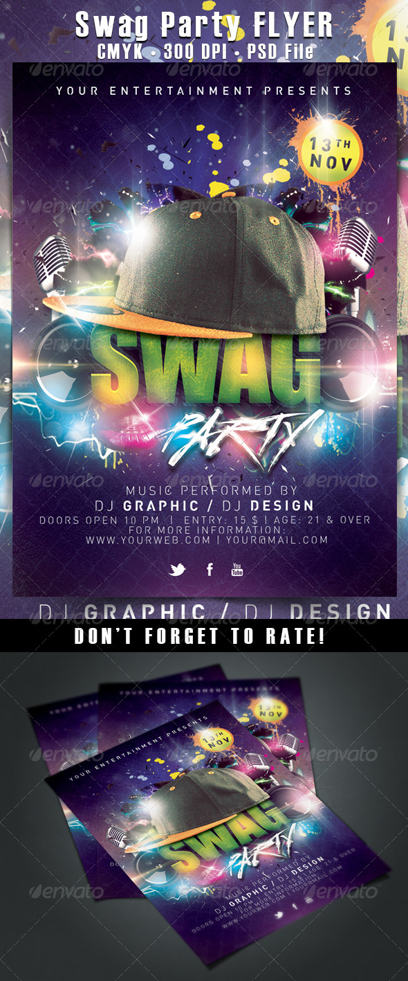 GraphicRiver Swag Party Flyer 5961722