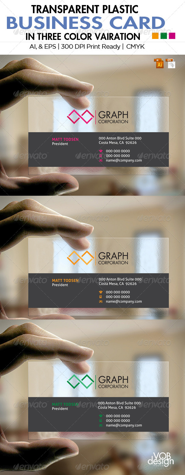Transparent Business Card 1 - Business Cards Print Templates