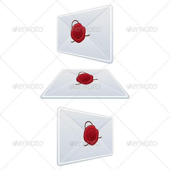 GraphicRiver Set Envelope with Wax Seal 5961832