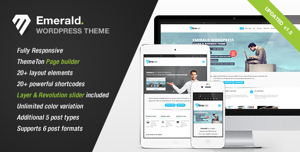 Emerald v1.2 | ThemeForest Modern and Elegant theme for Corporate