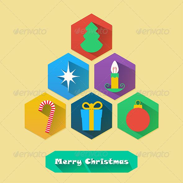 GraphicRiver Flat Christmas Icons 5961890