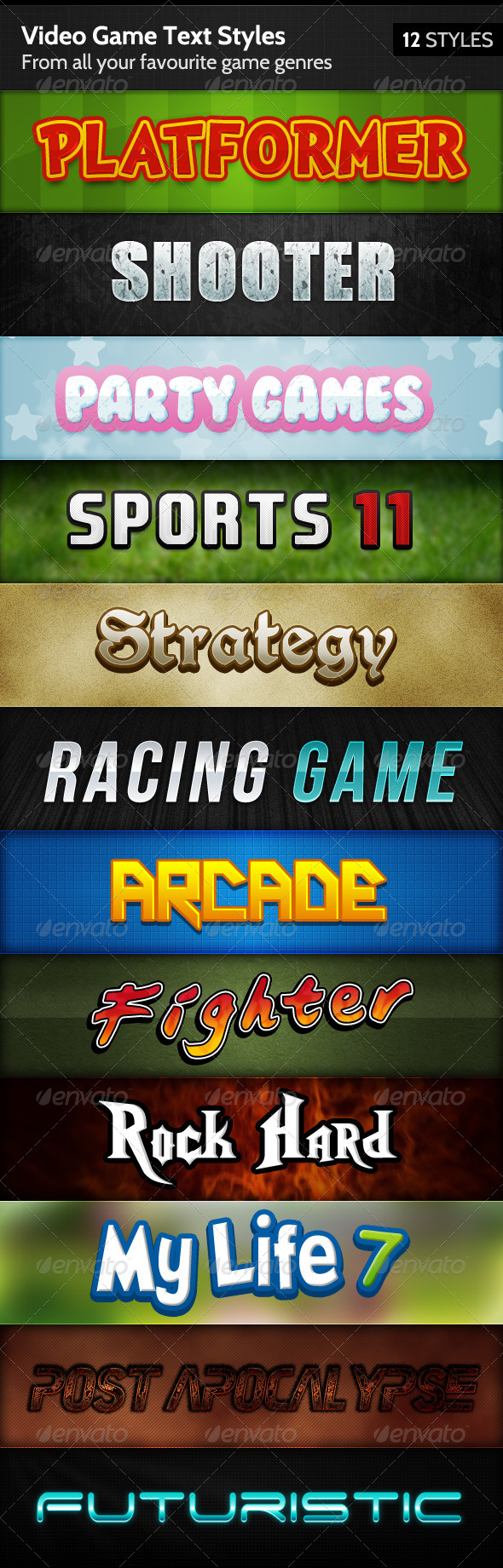 GraphicRiver Video Game Text Styles 144135
