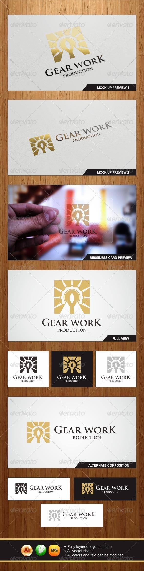 GraphicRiver Gear Work Logo 5961911