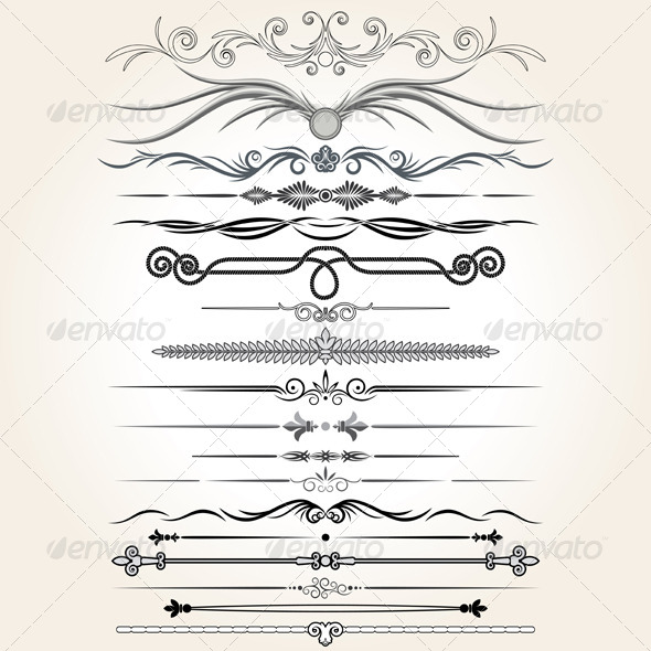 GraphicRiver Decorative Dividers Collection of Design Elements 5962276